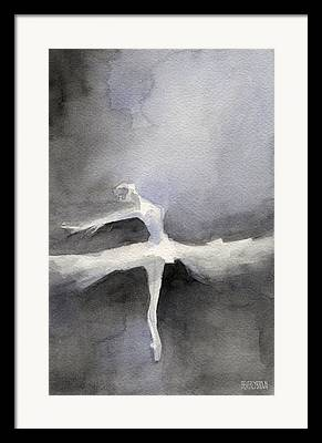Swan Lake Ballet Framed Prints