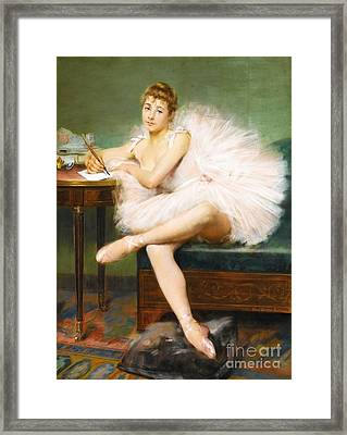 Ballet Dancer Framed Print by Pg Reproductions