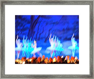 Ballet Dancers Abstract. Framed Print by Oscar Williams