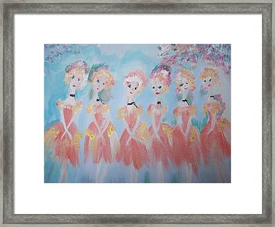 Ballet Group Framed Print