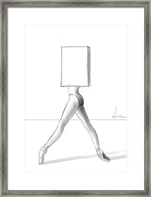 Ballet In A Box Framed Print by H James Hoff