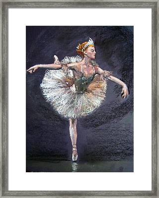 Ballet Framed Print by Jieming Wang