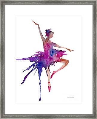 Ballet Retire Devant Framed Print by Amy Kirkpatrick