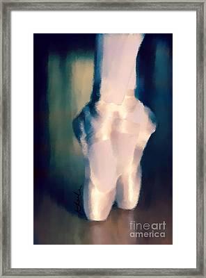 Ballet Slippers 1 Framed Print by Karen Larter