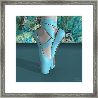 Ballet Toe Shoes With A Touch Of Edgar Degas Framed Print by Andre Price