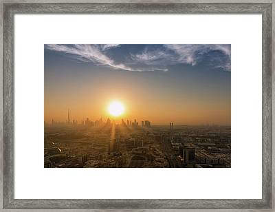 Ballet With The Clouds Framed Print by Charlie Joe