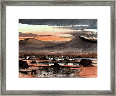 Connemara Sunset Galway Framed Print