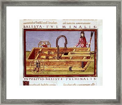 Ballista Fulminalis. Siege Machine Used Framed Print by Everett