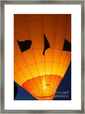 Ballon-glowyellow-7703 Framed Print by Gary Gingrich Galleries