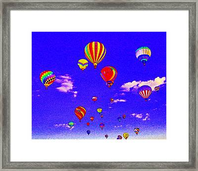 Ballon Race Framed Print