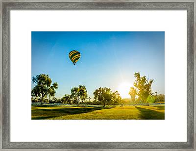 Balloon At Sunset Framed Print