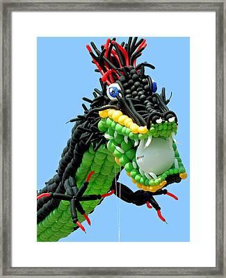 Balloon Dragon Framed Print by Jean Hall