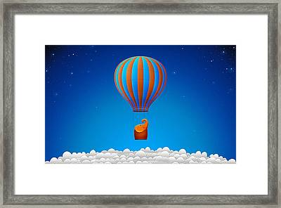 Balloon Elephant Framed Print by Gianfranco Weiss