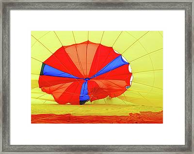 Framed Print featuring the photograph Balloon Fantasy   1 by Allen Beatty