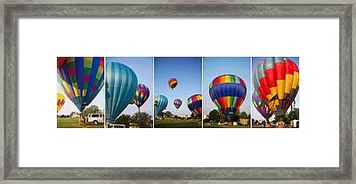 Balloon Festival Panels Framed Print by Betsy Knapp