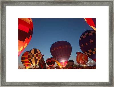Balloon-glow-7808 Framed Print by Gary Gingrich Galleries