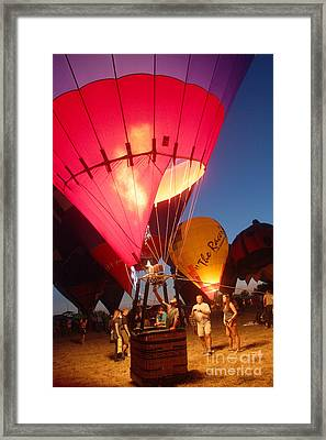 Balloon-glow-7831 Framed Print by Gary Gingrich Galleries