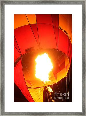 Balloon-glow-7917 Framed Print by Gary Gingrich Galleries