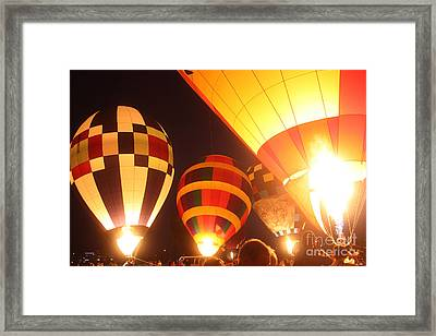 Balloon-glow-7950 Framed Print by Gary Gingrich Galleries