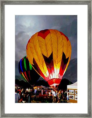Balloon Glow Framed Print by Ron Chambers