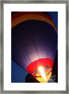 Balloon-glowpurple-7710 Framed Print by Gary Gingrich Galleries