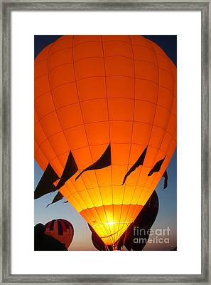 Balloon-glowyellow-7689 Framed Print by Gary Gingrich Galleries