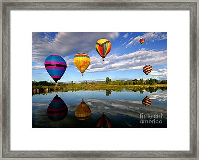 Balloon Horizon Framed Print