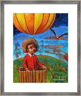 Balloon Journey Framed Print by Michal Kwarciak
