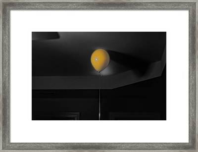 Balloon On Ceiling Framed Print