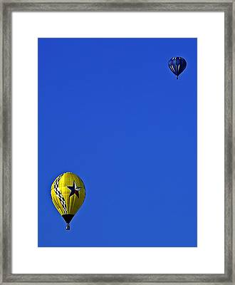 Balloon Postcard Framed Print by Andy Crawford