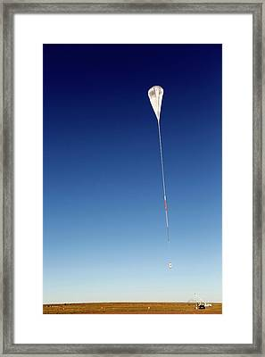 Balloon Rapid Response For Ison Launch Framed Print by Nasa/jhuapl