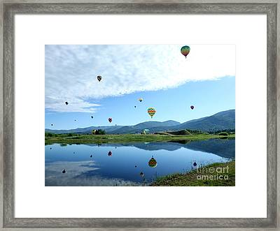 Balloon Reflections Framed Print by Stephen Schaps