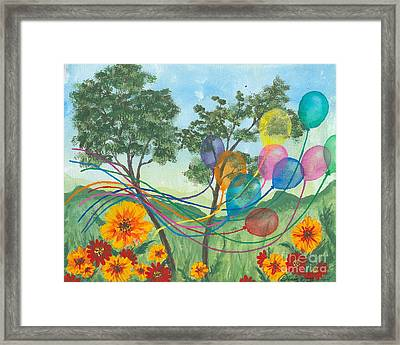 Balloon Release Framed Print