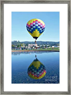 Framed Print featuring the photograph Balloon Ride  by Mindy Bench