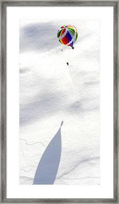 Balloon Snow Shadow Framed Print by Stephen Richards