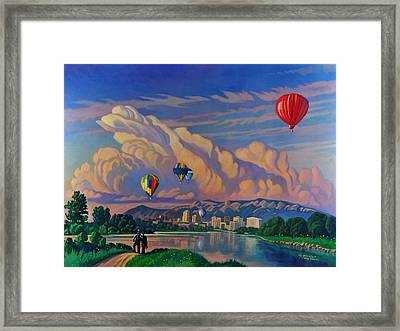 Ballooning On The Rio Grande Framed Print by Art James West