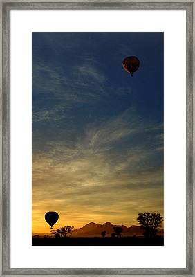 Balloons At Dawn Framed Print