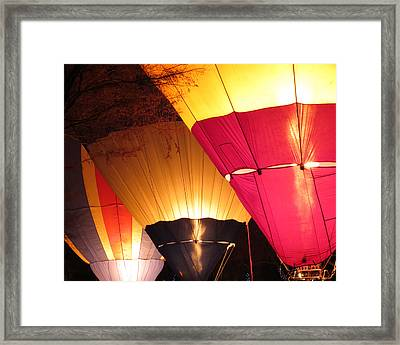 Balloons At Night Framed Print