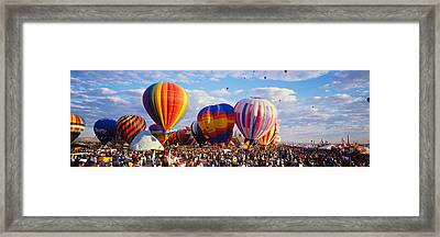 Balloons Being Launched Framed Print by Panoramic Images
