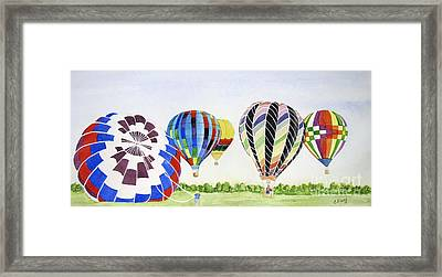 Framed Print featuring the painting Balloons by Carol Flagg