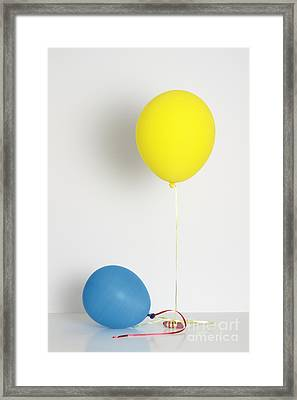 Balloons Filled With Helium And Air Framed Print by GIPhotoStock
