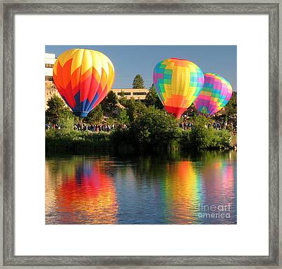 Balloons Over Bend Oregon Framed Print