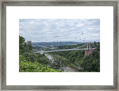 Framed Print featuring the photograph Balloons Over Clifton by Stewart Scott