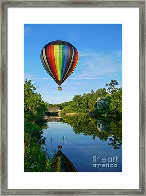 Balloons Over Quechee Vermont Framed Print by Edward Fielding