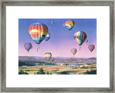 Balloons Over San Dieguito Framed Print by Mary Helmreich