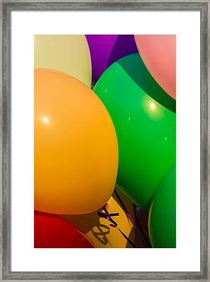Balloons Vertical Framed Print by Alexander Senin