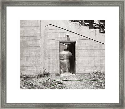 Ballplayer Framed Print by Jan W Faul