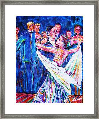 Ballroom Compitition Framed Print by Linda Vaughon