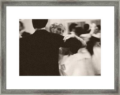 Ballroom Dancers Viennese Waltz Framed Print by Beverly Brown