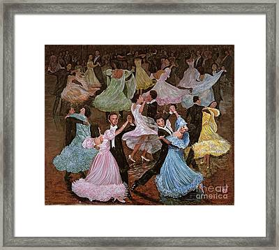 Ballroom Dancing Framed Print by Komi Chen